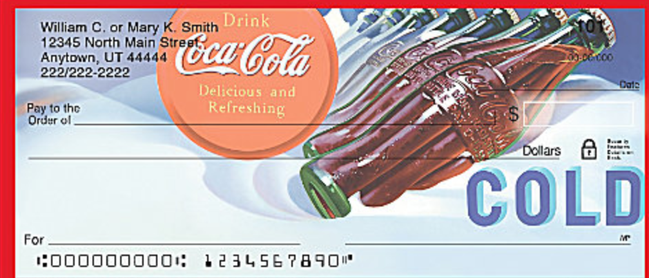 Coca-Cola Sign of the Times Personal Checks